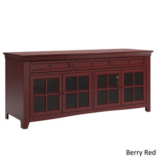 Ediline 70-inch 3-drawer Console Table TV Stand with Built-in Power Strip by iNSPIRE Q Classic (Option: Berry Red)