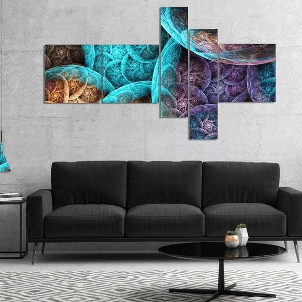 Designart 'Colorful Dramatic Clouds' Abstract Art on Canvas