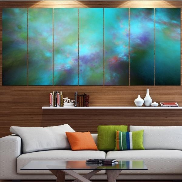 Designart 'Perfect Blue Starry Sky' Abstract Canvas Wall Art