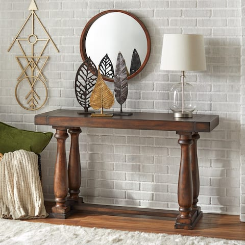 Lifestorey Avignon Burntwood Sofa Table