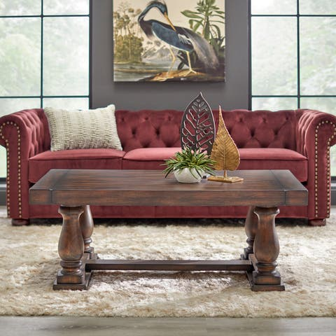 Lifestorey Avignon Burntwood Coffee Table