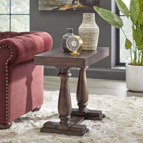Lifestorey Avignon Burntwood End Table
