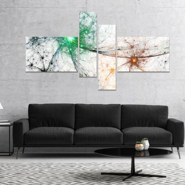 Designart 'Abstract Colorful Fireworks' Abstract Canvas Art Print