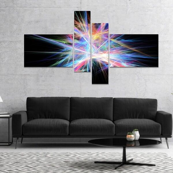 Designart 'Light Blue Spectrum of Light' Abstract Canvas Art Print
