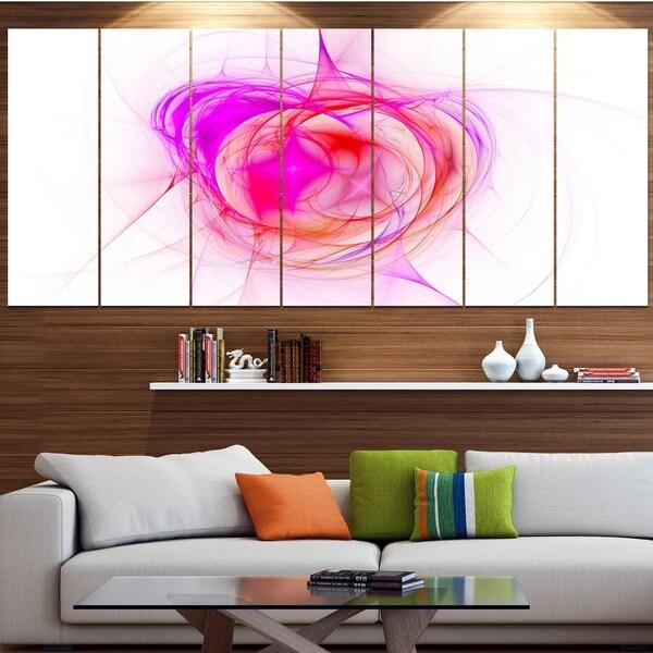 Designart 'Pink Fractal Explosion Supernova' Abstract Artwork on Canvas