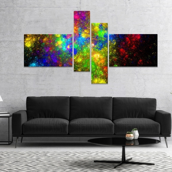 Designart 'Distant Galaxies' Abstract Canvas art print