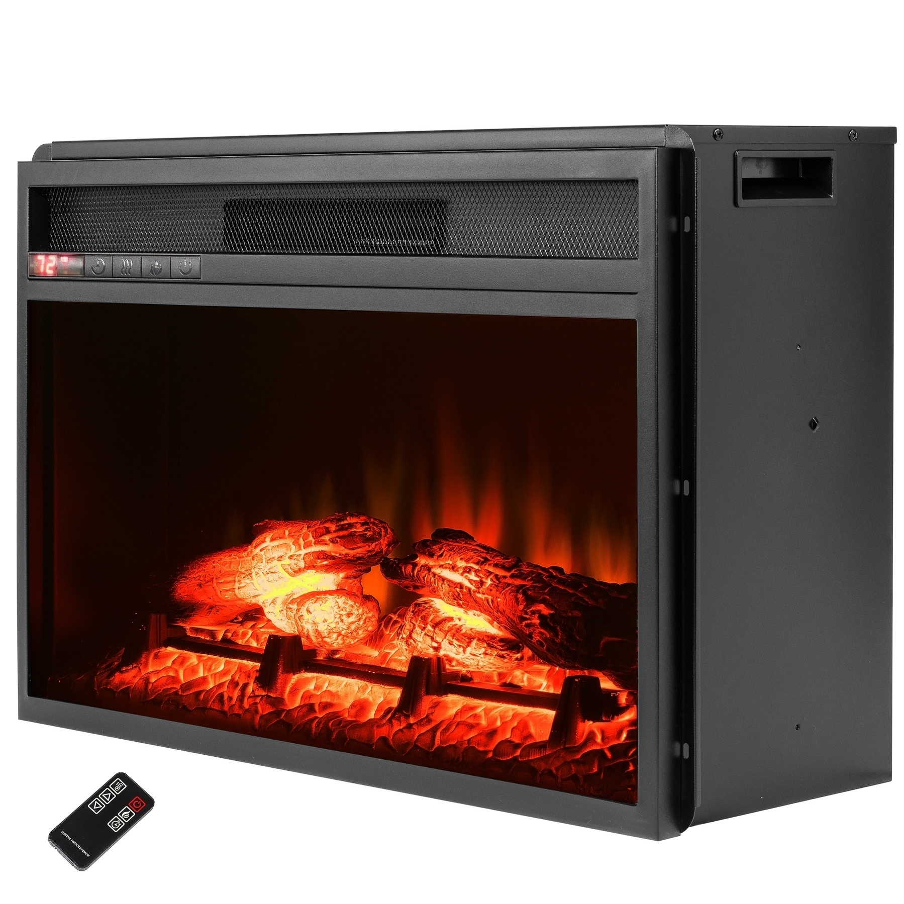 Fantastic Akdy 23 Black Freestanding Electric Firebox Fireplace Heater Insert With Remote Control Download Free Architecture Designs Barepgrimeyleaguecom