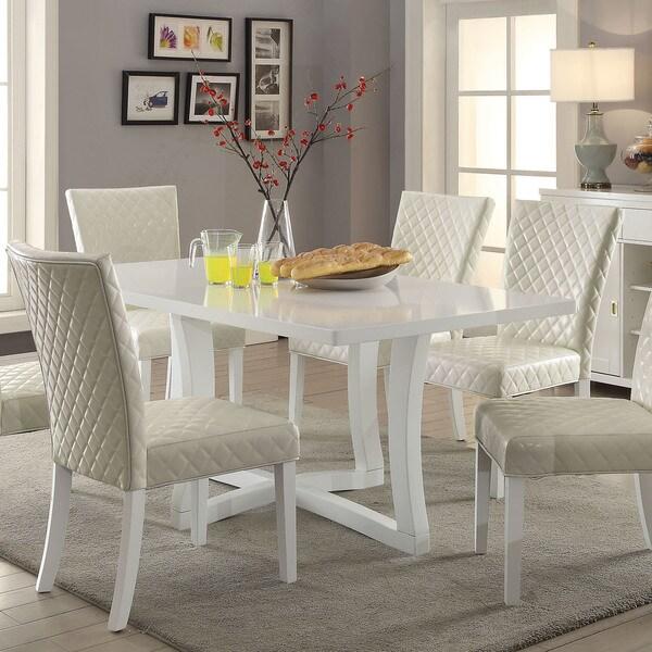 Shop Furniture Of America Fins Contemporary White 68-inch