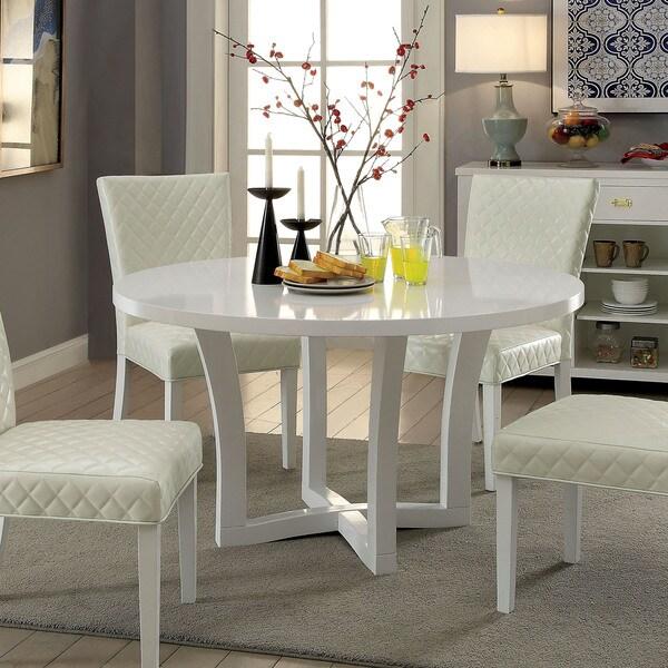 Shop Furniture Of America Fins Contemporary White 53-inch