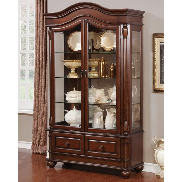 Furniture Of America Renoir Traditional Brown Cherry China Cabinet