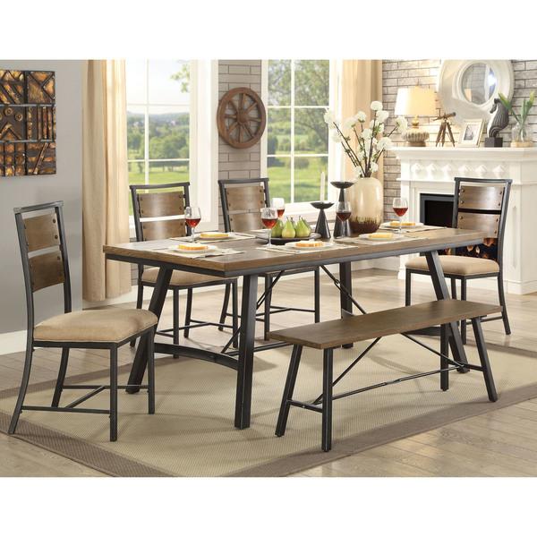 Shop Furniture Of America Renatti Weathered Grey Wood