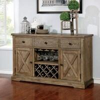 c2a515d1c000 Furniture of America Cooper Rustic Light Oak Wood Multi-storage Dining  Server. Sale
