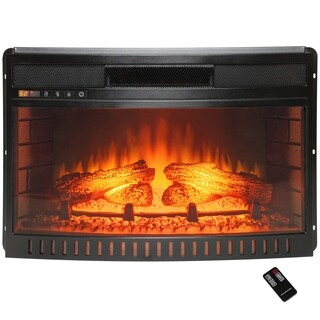 """AKDY 26"""" Freestanding Push Button Control Adjustable Electric Fireplace Heater Stove Insert w/ Remote Control"""