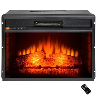 "AKDY FP0060 33"" Electric Fireplace Freestanding Insert Firebox Orange 3D Flame w/ Logs Heater"