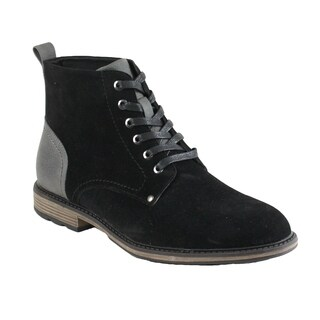 Arider FP51 Men's Lace Up Stacked Block Heel Ankle High Booties