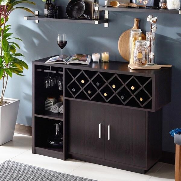 Shop Leo Modern Espresso 2-door Multi-Storage Buffet By