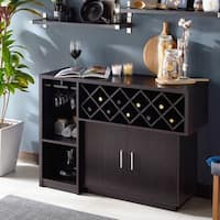 Furniture of America Leo Modern Espresso 2-door Multi-Storage Buffet