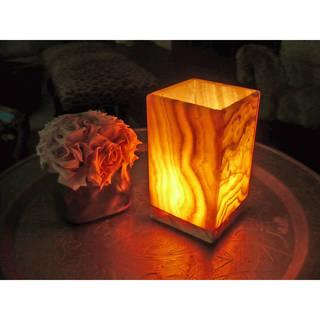 Handmade Small Rectangular Alabaster Lamp (Egypt)