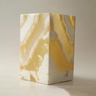 Handmade Small Rectangular Alabaster Lamp (Egypt)