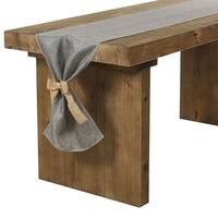 Gray Burlap Table Runner 14 x 84