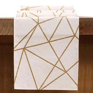 Glitter Gold Lines Table Runner 12 x 108