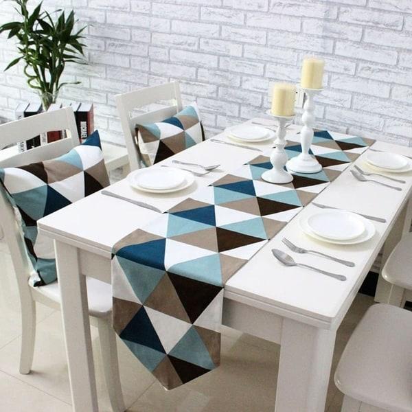Shop Modern Geometric Triangle Pattern Table Runner 12 X
