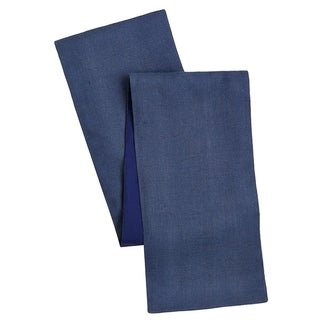 Cotton Craft Solid Color Jute Table Runner Blue 13x72