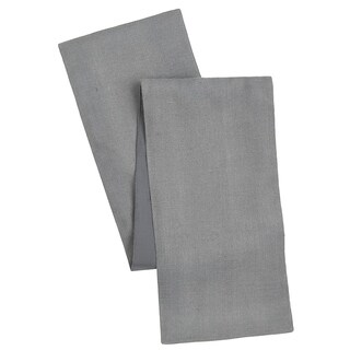 Cotton Craft Solid Color Jute Table Runner Charcoal 13x72