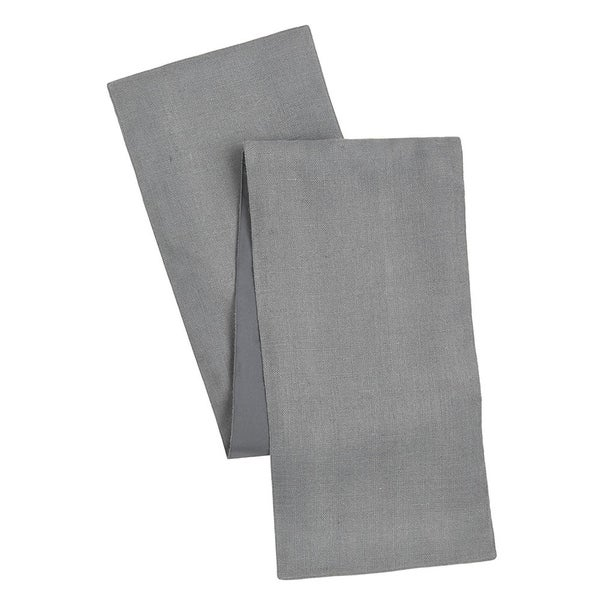 Cotton Craft Solid Color Jute Table Runner Charcoal 13x108