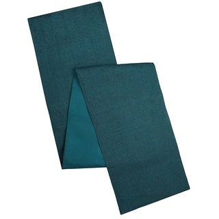 Cotton Craft Solid Color Jute Table Runner Teal 13x108