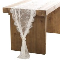 30x120 Inch White Classy Lace Table Runner