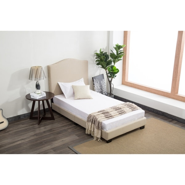 Dione Upholstered Twin Kids Bed In a Box