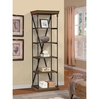 BroyerK Single Shelving Cornice Bookcase Unit Brown