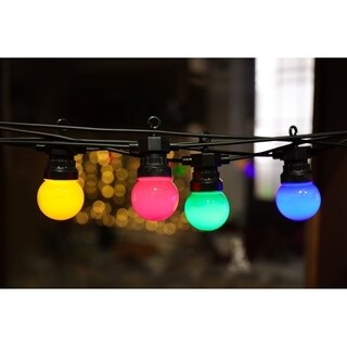Indoor & Outdoor Plug-in LED Globe-Shaped Light - 45ft (Multi Color)