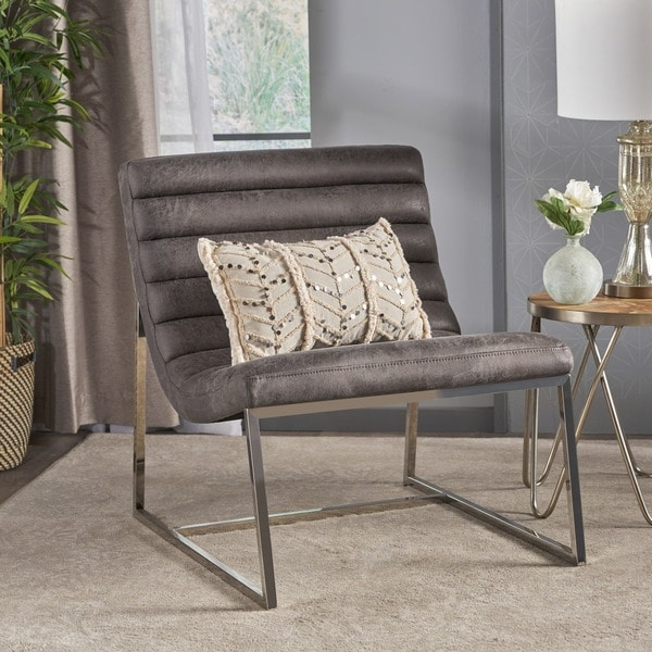 Shop Raoul Parisian Modern Microfiber Sofa Chair by Christopher ...