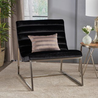 Raoul Parisian Modern Velvet Sofa Chair by Christopher Knight Home