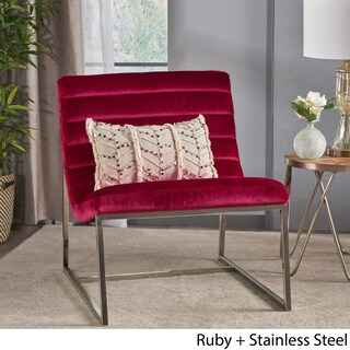 Raoul Parisian Modern Velvet Sofa Chair by Christopher Knight Home (Option: Red)