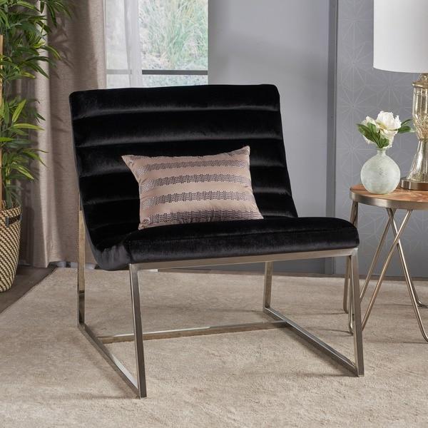 Shop Raoul Parisian Modern Velvet Sofa Chair by ... - photo#25