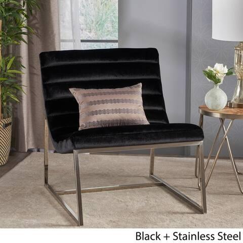 Raoul Parisian Modern Velvet Sofa Chair by Christopher Knight Home