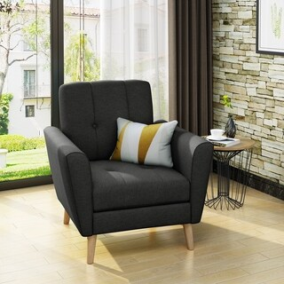 Treston Mid Century Fabric Club Chair by Christopher Knight Home