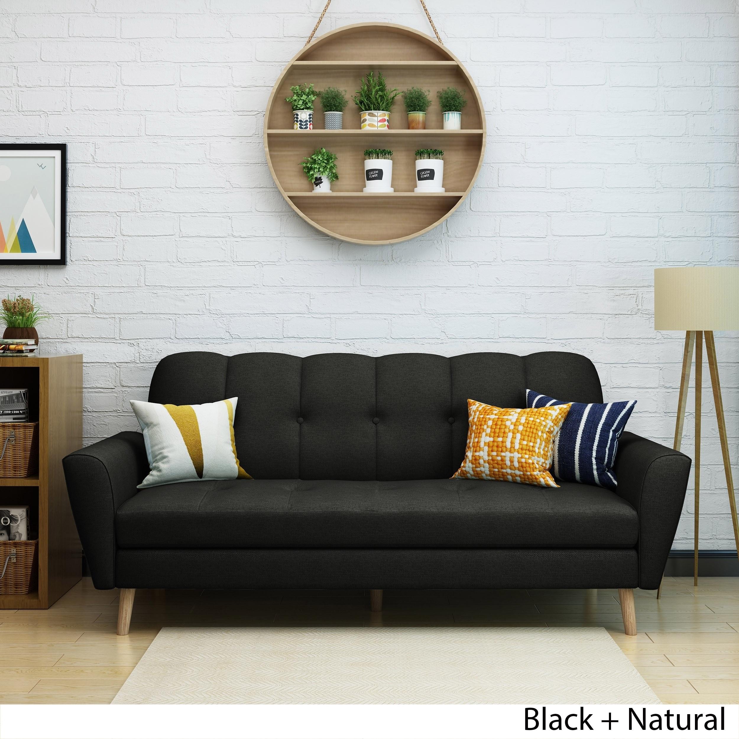 Treston Mid Century Fabric Sofa by Christopher Knight Home