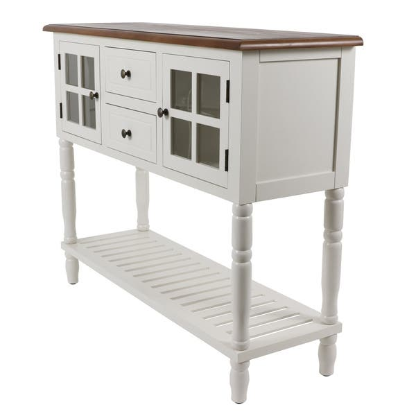 Gray D/écor Therapy FR8453 Taylor Four Drawer Console Table
