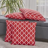 Amorie Quatrefoil Fabric Pillow (Set of 4) by Christopher Knight Home