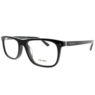 Prada Rectangle PR 03RV Asian Fit 1AB1O1 Unisex Black Frame Eyeglasses