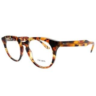 Prada Round PR 13SV UBM1O1 Unisex Brown Orange Havana Frame Eyeglasses
