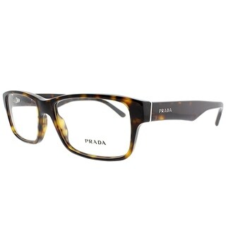 Prada Rectangle PR 16MV 2AU1O1 Unisex Havana Frame Eyeglasses