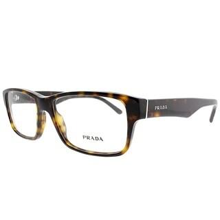 Prada Rectangle PR 16MV 2AU1O1 Unisex Havana Frame Eyeglasses