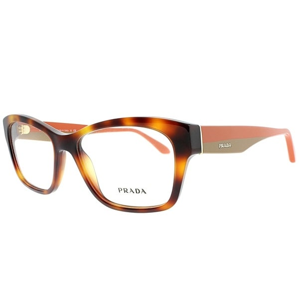 251e3dc0ed51 Shop Prada Rectangle PR 24RV TKR1O1 Unisex Havana Frame Eyeglasses ...