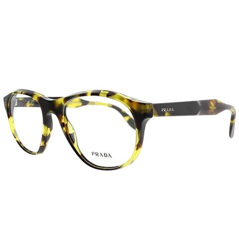 Prada Round PR 12SV UBL1O1 Unisex Yellow Havana Frame Eyeglasses