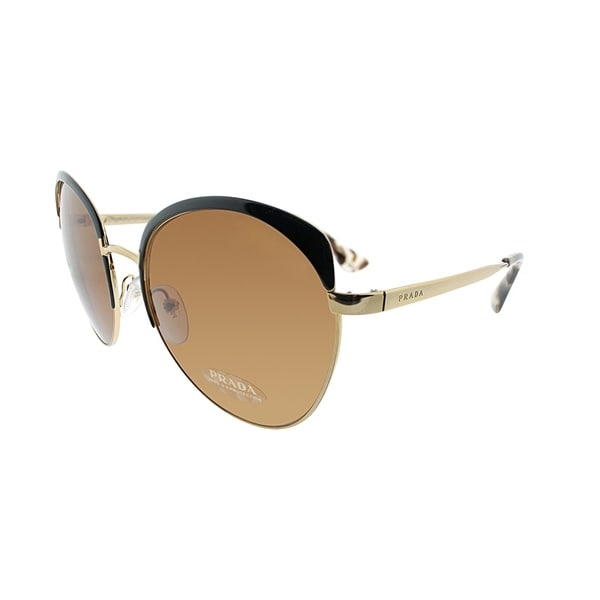 074cb9e4961 denmark prada sunglasses 00ab8 f2503  clearance prada round pr 54ss lax6n0  women antique gold black brown frame brown lens sunglasses 4dfea